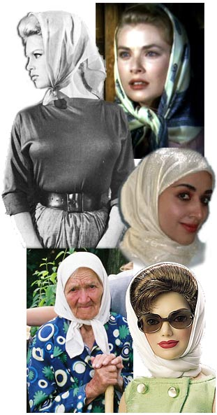 women with headscarves